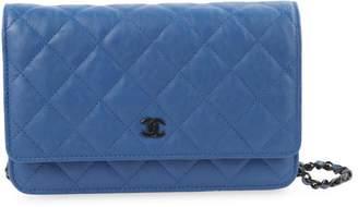 Chanel Wallet on Chain Blue Calfskin Leather Cross Body Bag