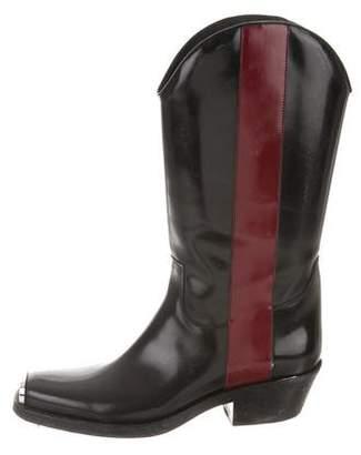 Calvin Klein Spazzolato Striped Cowboy Boots