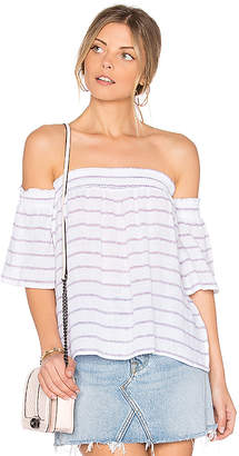 Rails Isabelle Off Shoulder Top in White $128 thestylecure.com