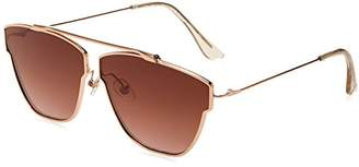 Foster Grant Item 8 Sm.6 Aviator Rose Gold Women's Designer Sunglasses
