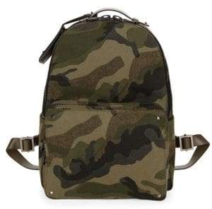 Valentino Camouflage Wool Backpack