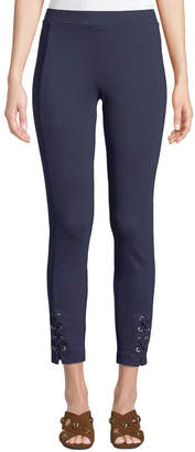 MICHAEL Michael Kors Lace-Up Ankle Skinny Pants