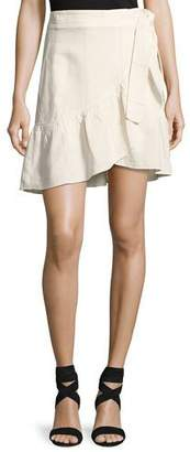 A.L.C. Hampton Wrap-Front Mini Skirt, White