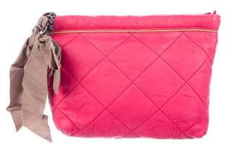 Lanvin Quilted Leather Zip Pouch