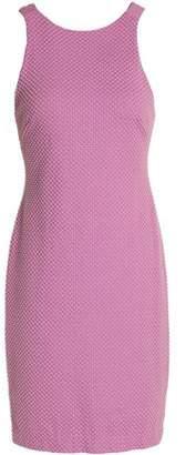 Halston Bead-Embellished Jersey Mini Dress
