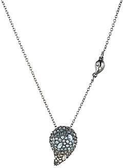 Alexis Bittar Crystal Encrusted Ombré Paisley Pendant Necklace