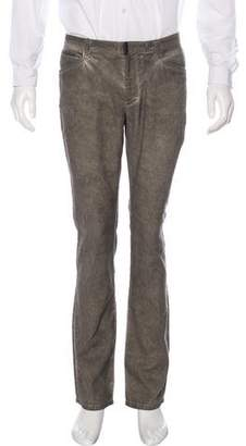 John Varvatos Distressed Linen-Blend Pants