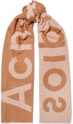 Acne Studios Toronty Intarsia Wool-blend Scarf - Camel