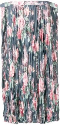 Junya Watanabe floral print pleated skirt