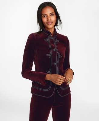 Brooks Brothers Soutache-Embroidered Velvet Jacket