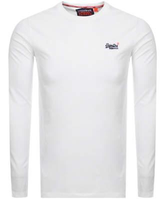 Superdry Vintage Long Sleeved T Shirt White