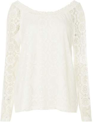 28b6b450dcd75 Dorothy Perkins Womens   Vila White Lace Top