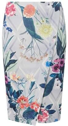 Dorothy Perkins Womens Multi Colour Floral Print Pencil Skirt