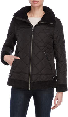 Lauren Ralph Lauren Faux Leather Quilted Bomber Jacket