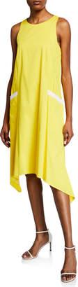 Badgley Mischka Contrast Pocket Trapeze Dress
