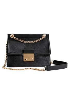 H&M Leather Shoulder Bag - Black - Women