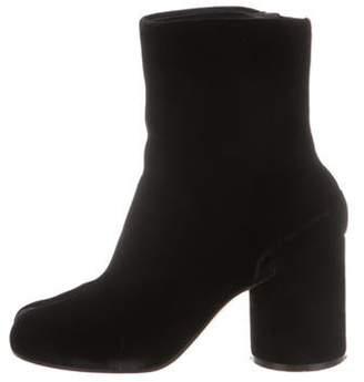 Maison Margiela Velvet Ankle Boots Black Velvet Ankle Boots