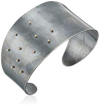 Melissa Joy Manning Mixed Metals Gold Ball and Oxidized Sterling Cuff Bracelet