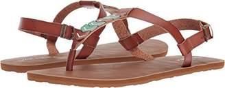 Volcom Women's Trail 6 Chevron T-Strap Synthetic Leather Fashion Flat Sandal