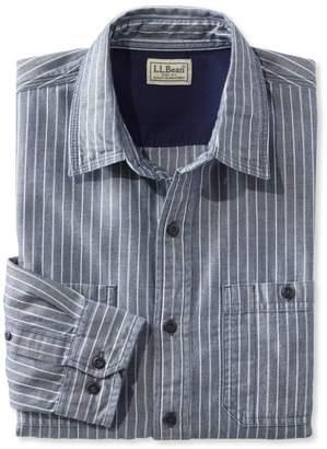 L.L. Bean L.L.Bean Indigo Denim Shirt, Slightly Fitted Stripe