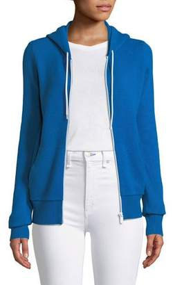 Michael Kors Zip-Front Cashmere/Cotton Hoodie Jacket