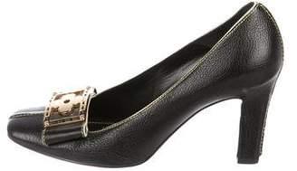 Louis Vuitton Leather Fleur Sandals