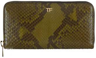Tom Ford Python Zip-Around Wallet