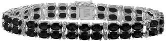 FINE JEWELRY Genuine Black Sapphire & Diamond-Accent Sterling Silver Bracelet