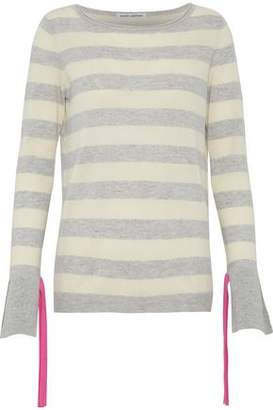 Autumn Cashmere Tie-Detailed Striped Cashmere Sweater