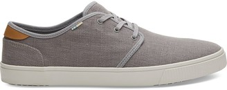 Toms Drizzle Grey Heritage Canvas Mens Carlo Sneakers