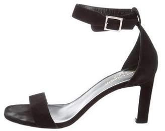 Saint Laurent Suede Ankle-Strap Sandals