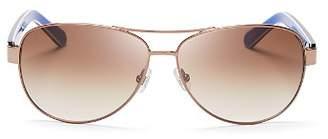 Kate Spade Women's Dalia Aviator Sunglasses, 58mm