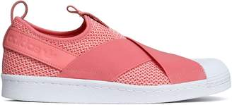 adidas Superstar Leather-trimmed Stretch-knit And Mesh Slip-on Sneakers