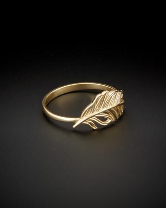 Italian Gold 14K Feather Ring