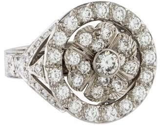 Ring Platinum Rotating Floral Diamond