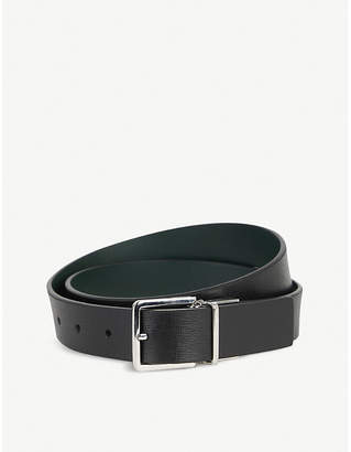 Paul Smith Saffiano Cut-To-Fit reversible leather belt