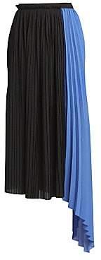 Kenzo Women's Pleated Asymmetric Midi Skirt
