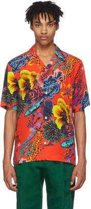 Paul Smith Red Hawaiian Print Shirt