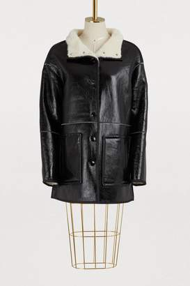 Yves Salomon Jacket with merino fur