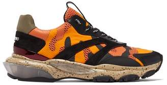 Valentino Bounce Raised Sole Low Top Trainers - Mens - Orange