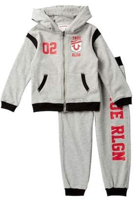 True Religion Varsity Sweater & Sweatpants Set (Toddler Boys)