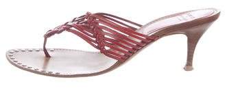 Philosophy di Alberta Ferretti Leather Thong Sandals