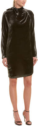 Pinko Velvet Silk-Blend Shift Dress