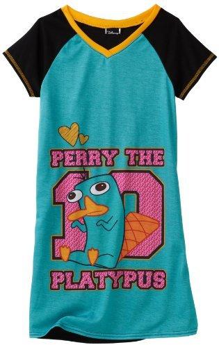 Komar Kids Girls Phineas and Ferb Dorm Shirt