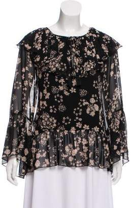 Rebecca Minkoff Floral Long Sleeve Blouse