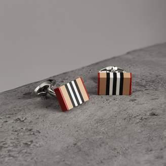 Burberry Heritage Stripe Cufflinks