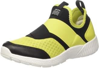 Geox Boy's J SVETH BOY Sneakers, Grey/Lime