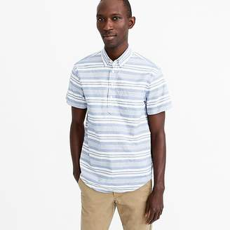 J.Crew Short-sleeve popover shirt in blue stripe