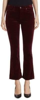 AG Jeans Jodi High-Rise Cropped Flare Velvet Pants