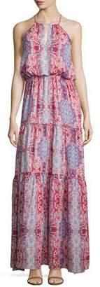 Parker Tudor Sleeveless Tiered Maxi Dress, Marmari $298 thestylecure.com
